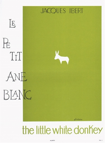 Le Petit Ane Blanc: Little White Donkey: Piano Solo