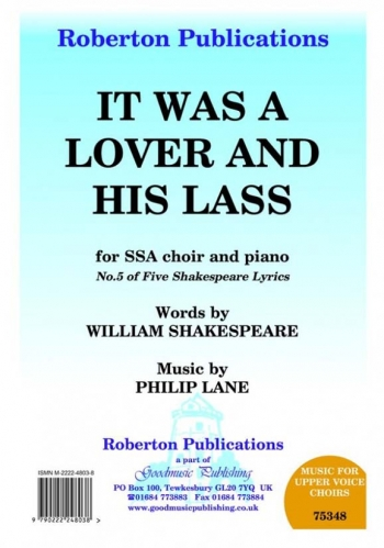 It Was A Lover & His Lass: Vocal SSA (Roberton)