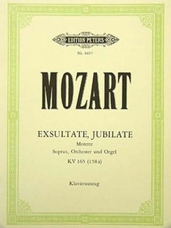 Exsultate Jubilate K165:  Vocal Score (Peters)