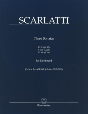 Three Sonatas For Keyboard K323 K378 & K162 Piano: (Barenreiter)