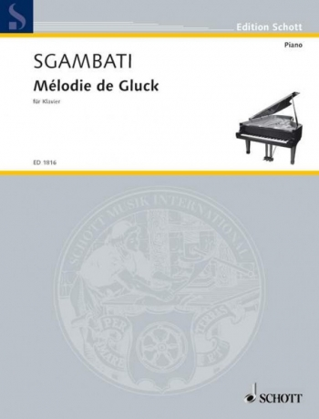 Melody Of Gluck Piano Solo (Schott)