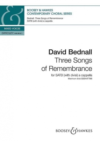 Three Songs of Remembrance (Boosey)