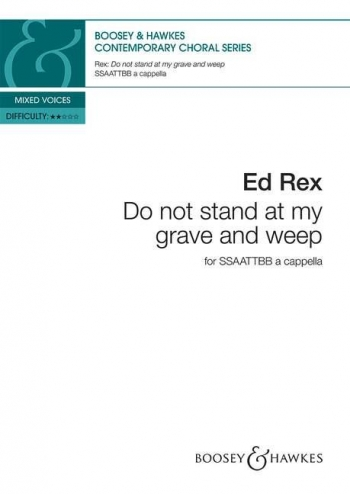 Do not stand at my grave and weep (Boosey)