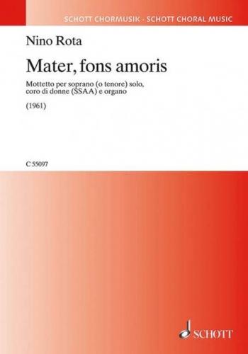 Mater, fons amoris (Schott)