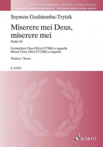 Miserere mei Deus, miserere mei (Schott)