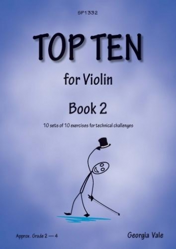 Top Ten Book 2: 10 Sets Of 10 Technical Challenges For Violin (Vale)