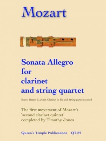 Sonata Allegro For Clarinet & String Quartet: Score & Parts (Spartan)