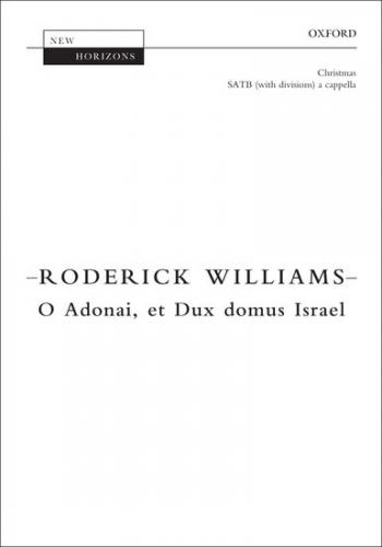 O Adonai, et Dux domus Israel: SATB unaccompanied