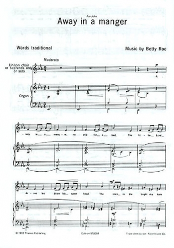 Away In A Manger Vocal SATB (Betty Roe) (Thames - Archive)