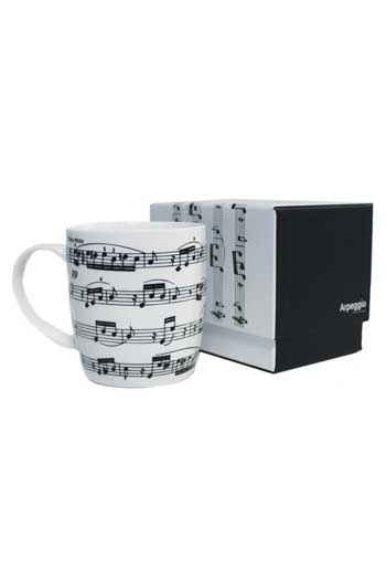 Bone China Mug: Arpeggio White (Boxed)