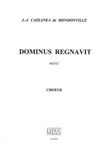 Dominus Regnavit For Choir SATB