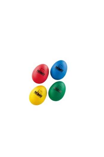 Egg Shaker Assortment - Red, Green, Yellow, Blue (4pcs)