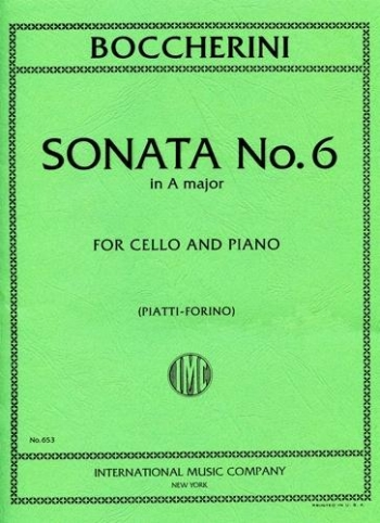 Sonata No.6 Amajor Cello & Piano (International)