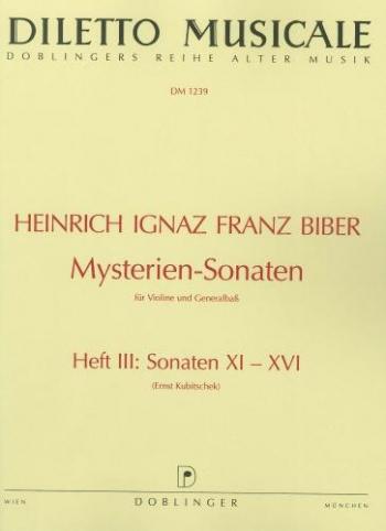 Mystery Sonatas: Vol 3 Sonatas 11-16: Violin & Piano