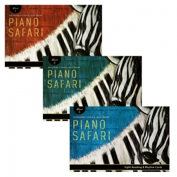 Piano Safari: Pack Sight Reading Cards 1,2,3