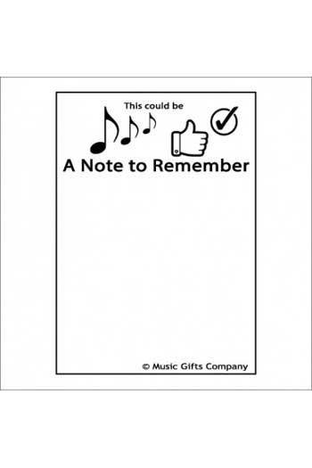 Notepad: A Note To Remember