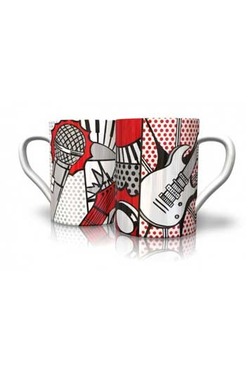 Mug:  Pop Art Mug Designed By Award-winner Vikki Gibson. Hand-decorated In England.