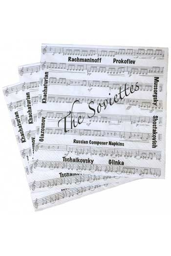 The Soviettes Paper Napkins. 3-ply. Made By The World's Finest Producer Of Napkins.