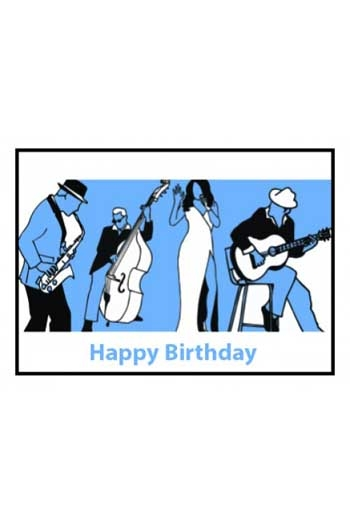 Card Happy Birthday Blues Made In England