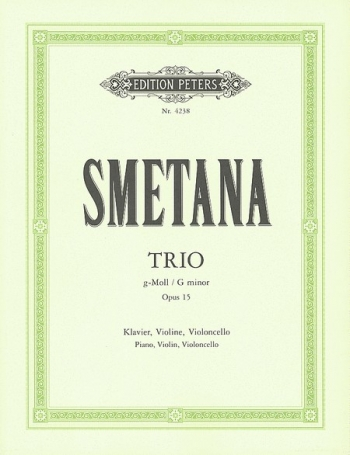 Piano Trio In G Minor Op15: Violin Cello And Piano (Peters)