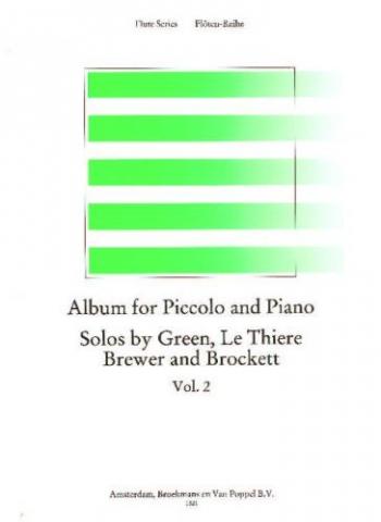 Album For Piccolo & Piano Vol.2 (Brewer, Arr Wye)