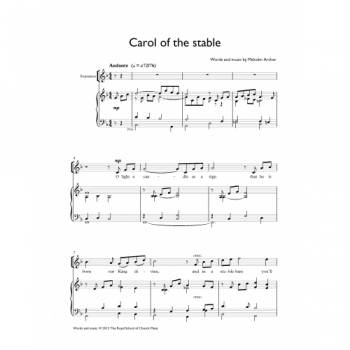 Carol Of The Stable: Vocal Solo & Piano