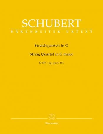 String Quartet: G Major D887: Parts Only