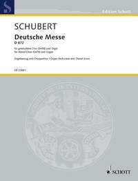 German Mass, D 872: Organ: Score (Schott)