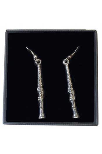 Gift: Earrings: Clarinet: Pewter