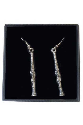 Gift: Earrings: Clarinet: Pewter