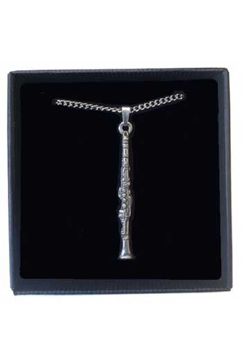 Gift: Necklace/Pendant: Clarinet Pewter