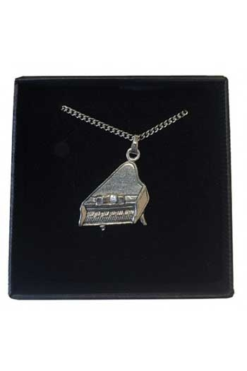 Gift: Necklace/Pendant: Piano Pewter