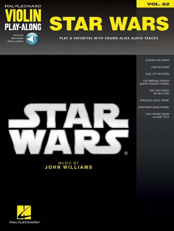 Violin Play-Along: Star Wars: Vol.62  Violin Book & Online Audio