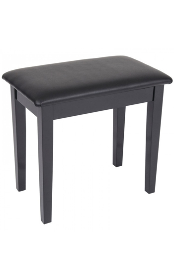 Kinsman Polished Black Piano Bench With Storage