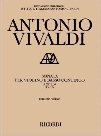 Sonata In E Minor: FXIII No. 57 Rv17A: Violin Basso Continuo & Piano (Ricordi)