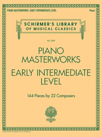 Schirmer's Library Of Musical Classics Volume 2110: Piano Masterworks - Early Intermediate