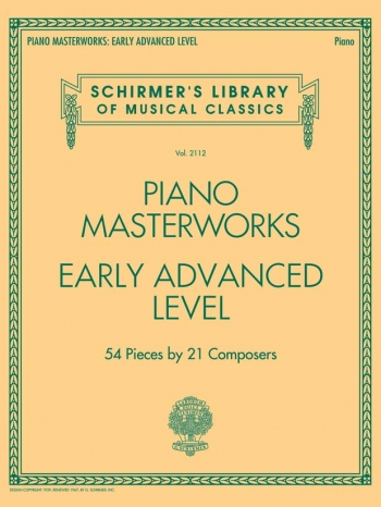 Schirmer's Library Of Musical Classics Volume 2110: Piano Masterworks - Early Advanced