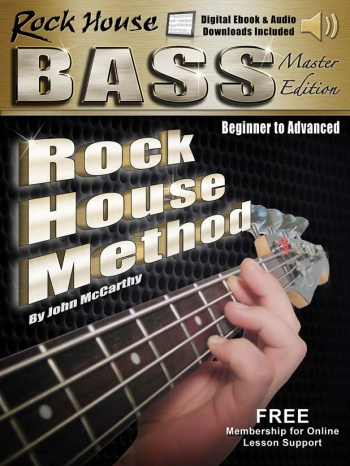 Rock House Bass Guitar Master Edition Complete: Beginner - Advanced: Book With Audio-Onlin