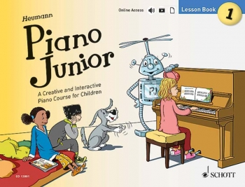 Piano Junior Lesson Book 1: Creative And Interactive Piano Course: Edition With Online Aud