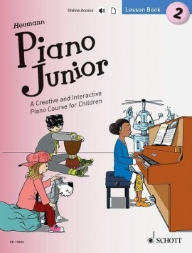 Piano Junior Lesson Book 2: Creative And Interactive Piano Course: Edition With Online Aud