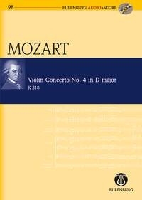 Violin Concerto: D Major: No4: K218: Miniature Score & Cd (Audio Series No 98)