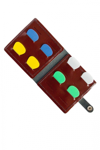 Guitar: Leather Wallet Plectrum Holder: Hold 16 Plectrum