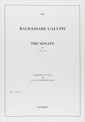 3 Sonatas: Tre Sonate: Organ (Zanibon)