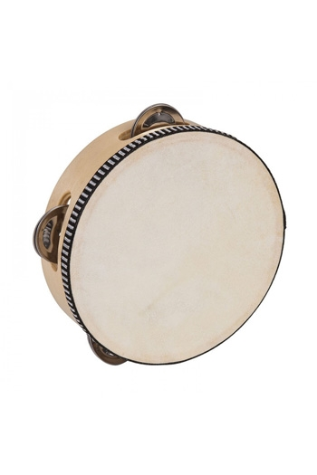 Tambourines Headed 6 Inch 4 Jingles By PP Percussion