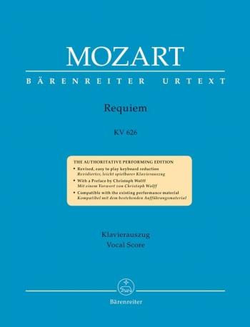 Requiem K626: Vocal Score: Latin (Barenreiter)