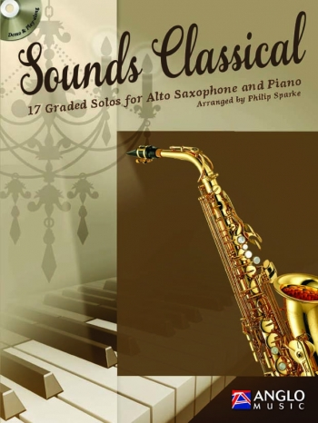 Sounds Classical: Alto Saxophone & Piano Book & CD  (Sparke) (Anglo Music)