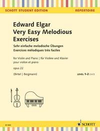 Very Easy Melodious Exercises, Op. 22: Violin & Piano (Schott)