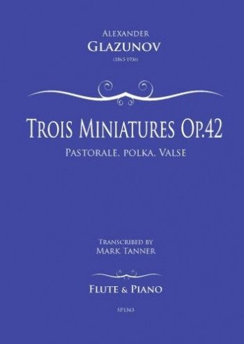 Trois Miniatures Op.42/1 For Flute And Piano