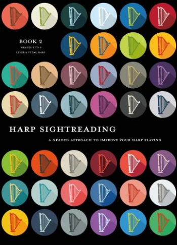 Harp Sightreading Book 2 Grade 5 - 8  Pedal Harps