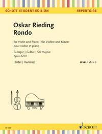 Rondo G Major Op.22/3 : Violin And Piano (Schott)